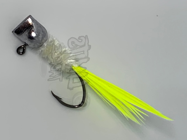 Gray Body Chartreuse Tail
